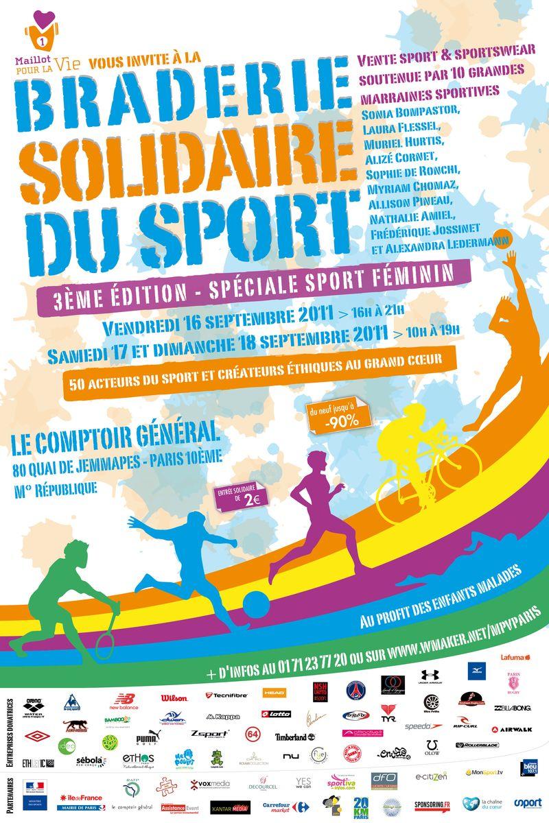 Affiche Braderie solidaire du sport 2011